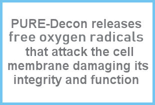 free oxygen radicals -PURE Decon