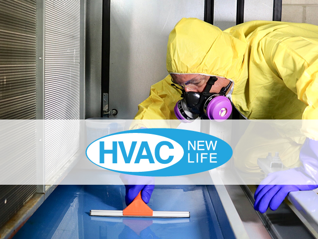 HVAC New Life restoration of drain pan