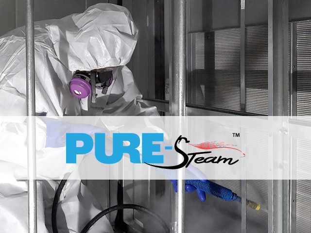 PURE-Steam HVAC coil cleaning in action