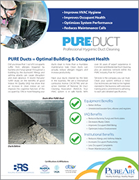 PURE-Duct Indoor Air Quality Brochure