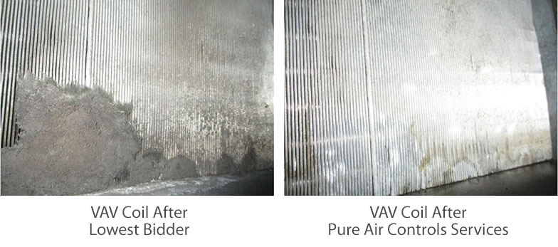 Duct cleaning specs VAV before and after 01
