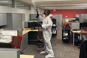 Building Coronavirus Testing - Remedial Disinfection